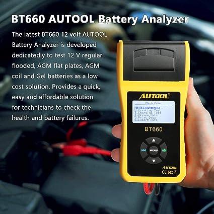 AUTOOL BT-660 - Comprobador de Carga de batería para Todos los ...