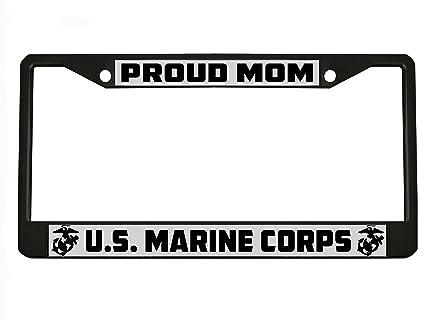 Amazon.com: Marine Mom US Marine Corps License Plate Frame Black ...