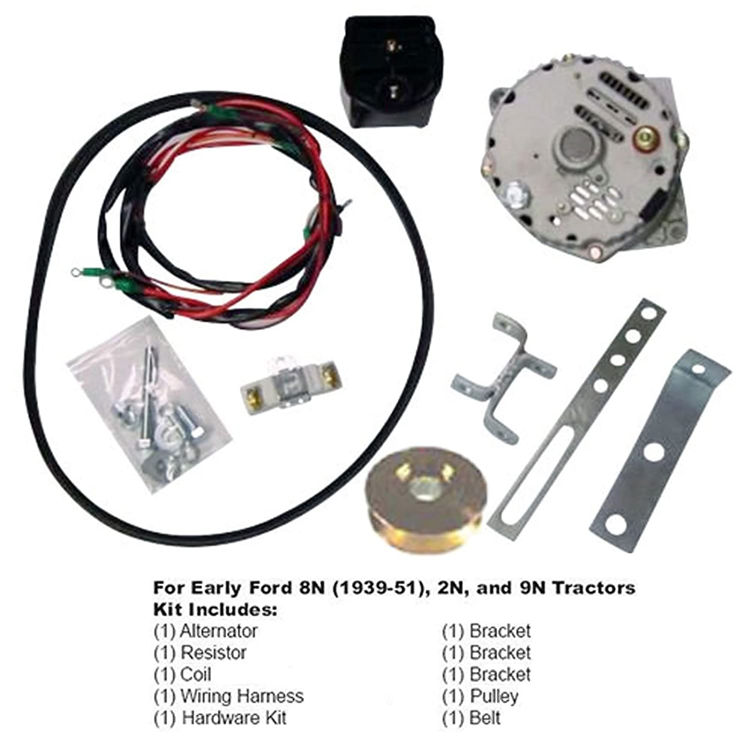 Ford 8n 2n 9n Tractor Generator To Alternator Conversion Wiring Harness Kit 1939 1951 12 Volt Automotive