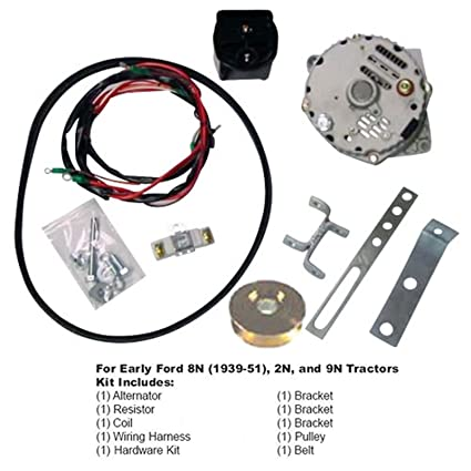 amazon com: ford 8n 2n 9n tractor generator to alternator conversion kit  1939-1951 6 volt to 12 volt: automotive