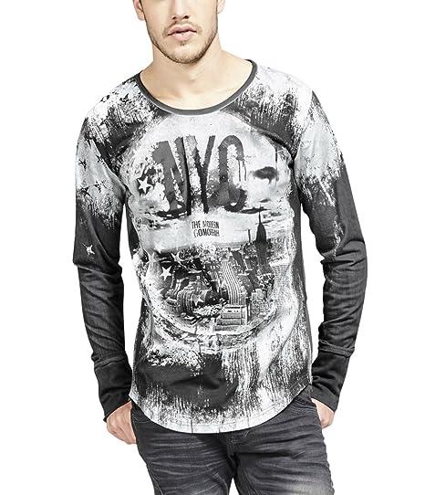 trueprodigy Casual Homme Tee Shirt Manche Longue Motif imprimé, Vetements  Swag Marque col Rond ( 60caa73ec77