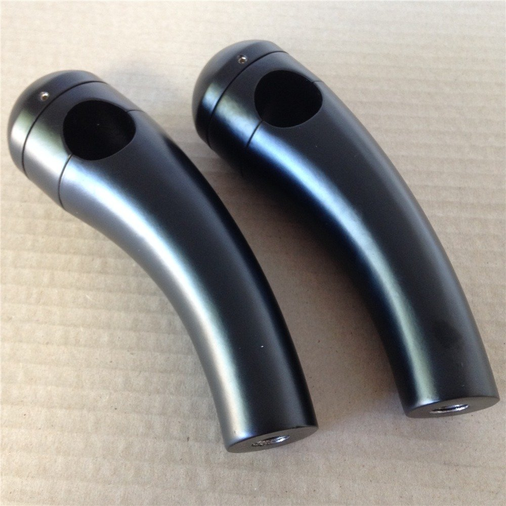1' Bar Black Motorcycle Handlebar Pullback Risers For Universal Bikes TTMT