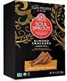 Soul Sprout, by Two Moms Sprouted Almond Protein Crackers, Sweet On You Graham, 4.5 Ounce