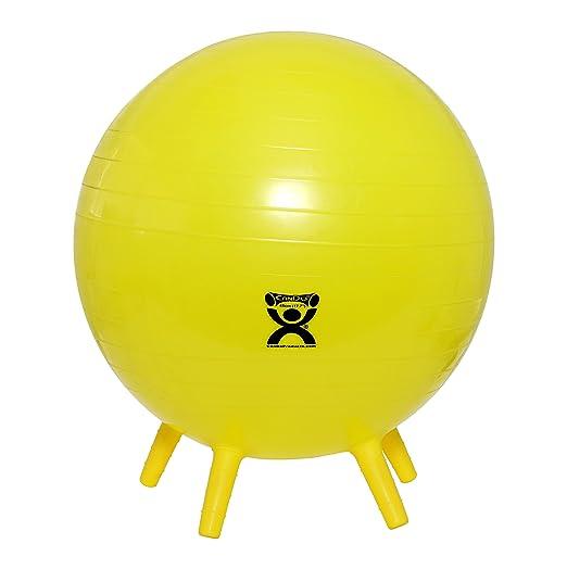 Amazon.com: Pelota de ejercicios CanDo inflable con pies de ...