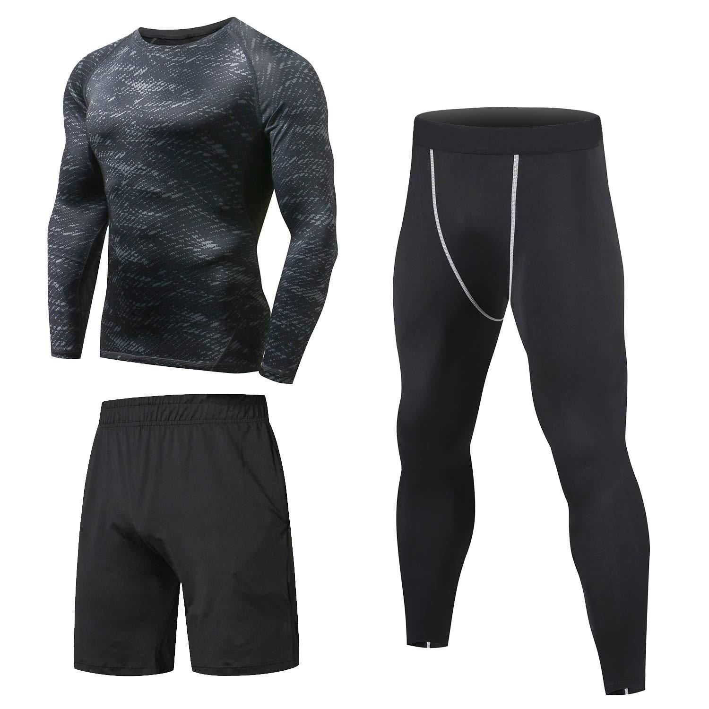 241dc4a829e Niksa 3 Pcs Mens Fitness Gym Clothing Set
