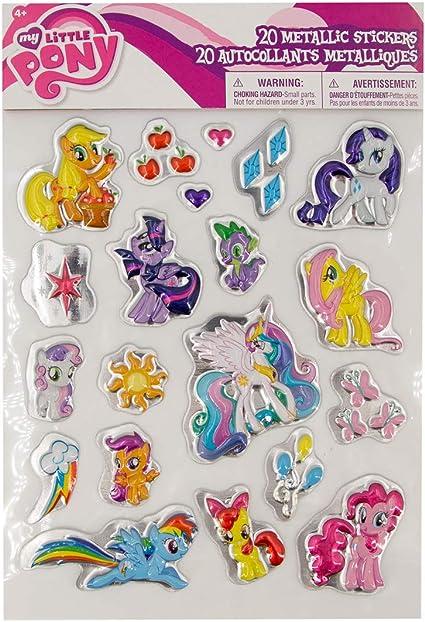 20pc Savvi Metallic 3D Puffy Stickers Set Fun Kids Characters For Boys Girls