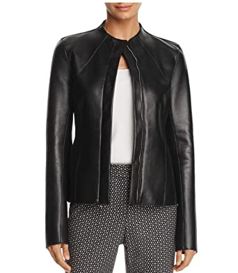 b74bb4705bea Theory Women s Sculpted wilmore Genuine Leather Jacket (Black