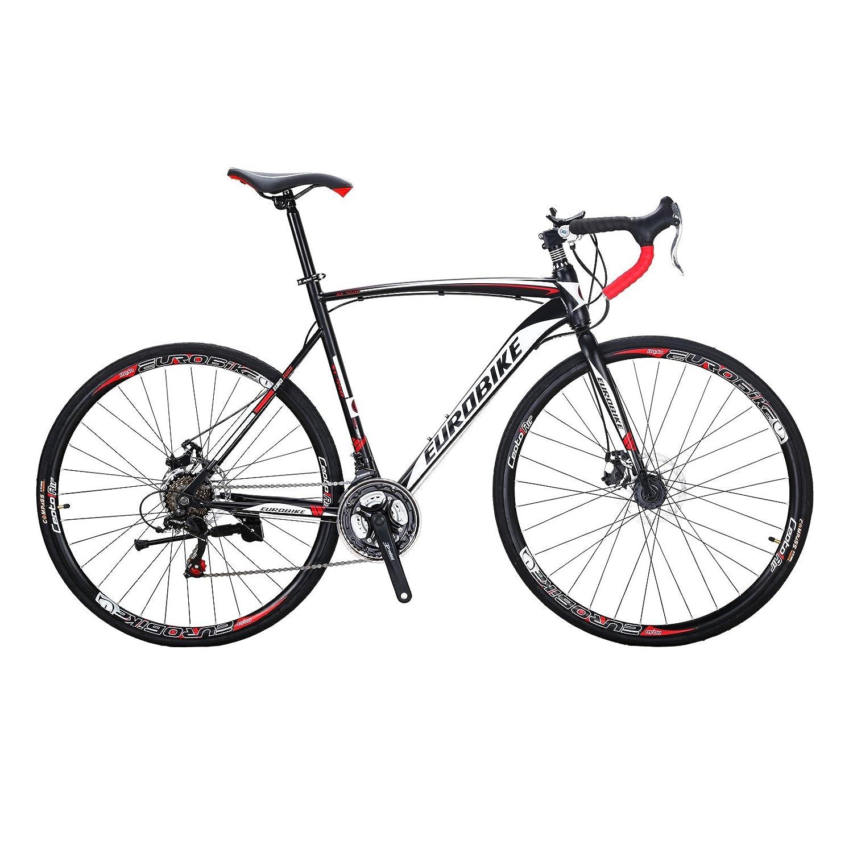 EUROBIKE XC550 ロードバイク自転車 700C 変速21速 ディスクブレーキ 自転車 ロード B07DL11WTS 黒と白 黒と白