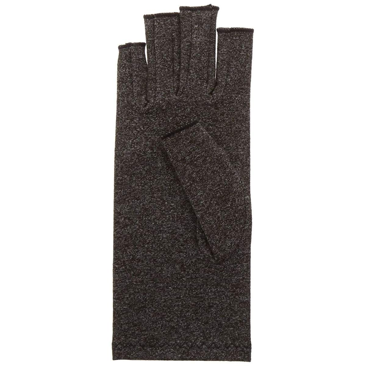 Rolyan Compression Glove, Right Hand, Small, Black, Comfortable & Breathable Blend of Lycra & Cotton, Open Tips, Relief From Rheumatoid Arthritis & Osteoarthritis Joint Pain, Swelling, Stiffness