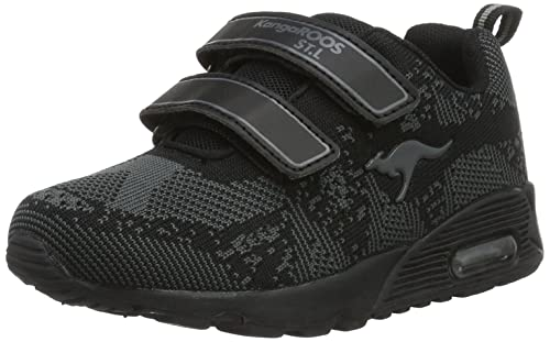 KangaROOSKanga S - Zapatillas Unisex Niños, Color Negro, Talla 39 EU