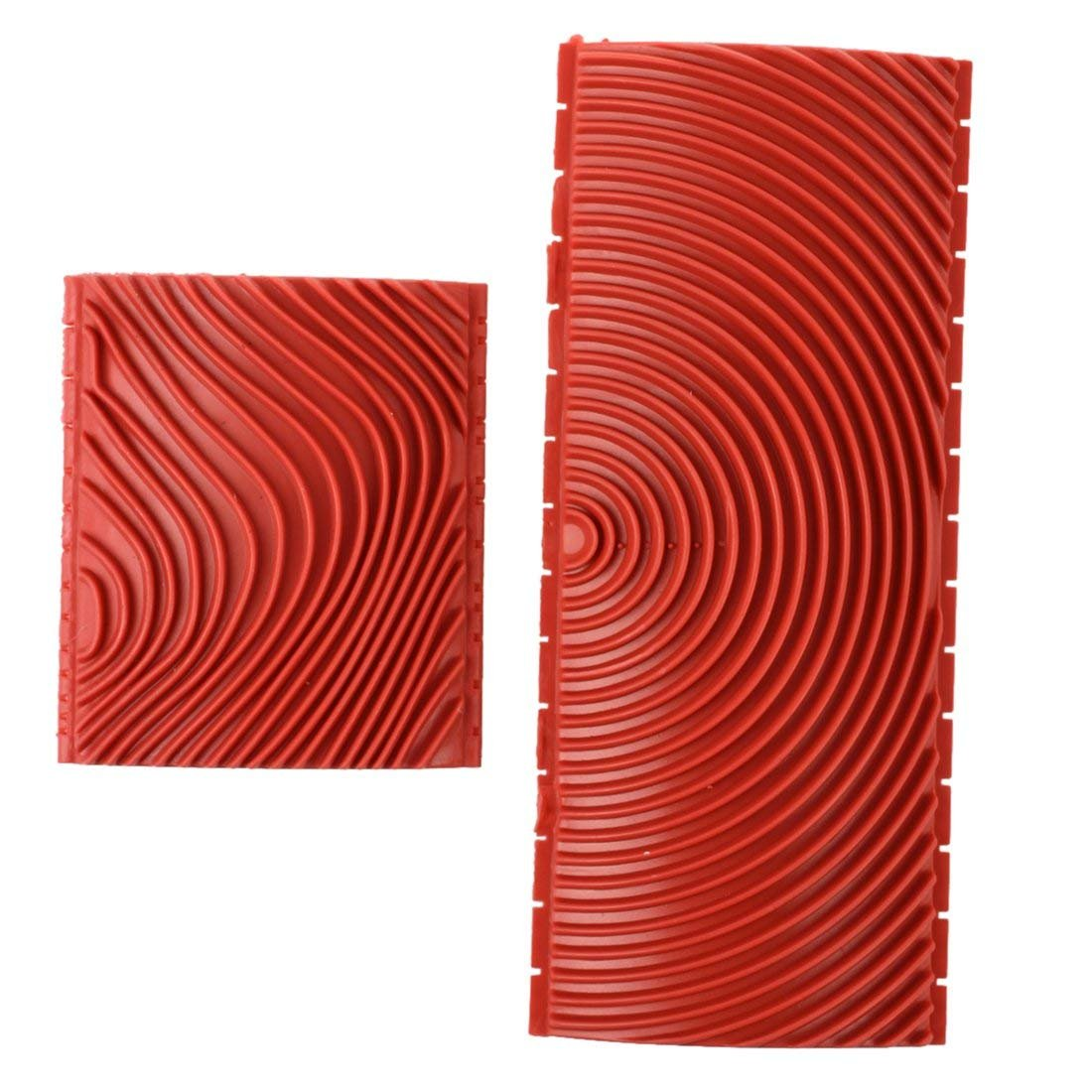 DD Goods 2Pcs Rubber Wood Grain, Household Wall Art Paint Silicone Rubber Wood Graining DIY Tool Set