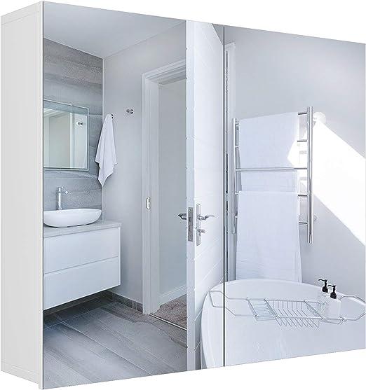 Homfa Spiegelschrank Badezimmerspiegel Badezimmerschrank Spiegel