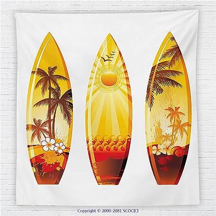 59 x 59 cm Tabla de surf Decor manta de forro polar colores tablas de surf