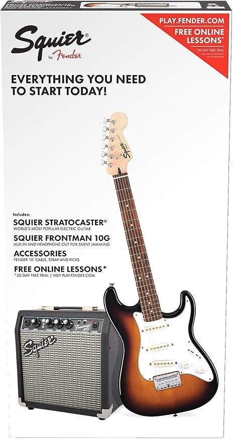 Fender 0371812032 - Guitarra eléctrica (6 cuerdas), color marrón