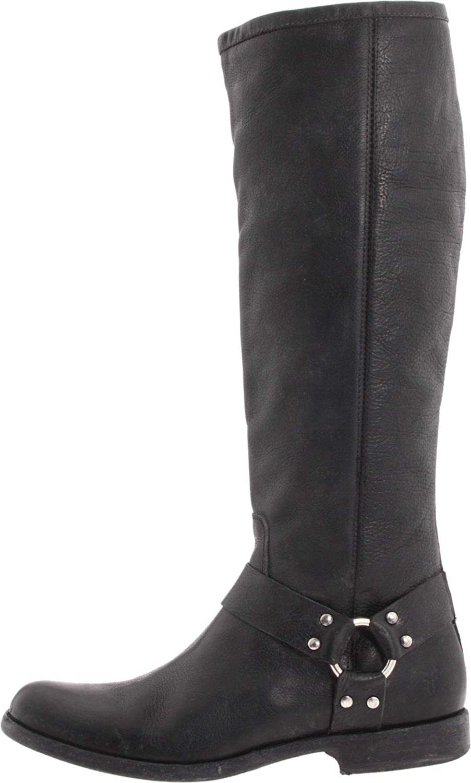 FRYE Women's Phillip Harness Tall Boot B004W25W9G 10 B(M) US Black Soft Vintage Leather-76850