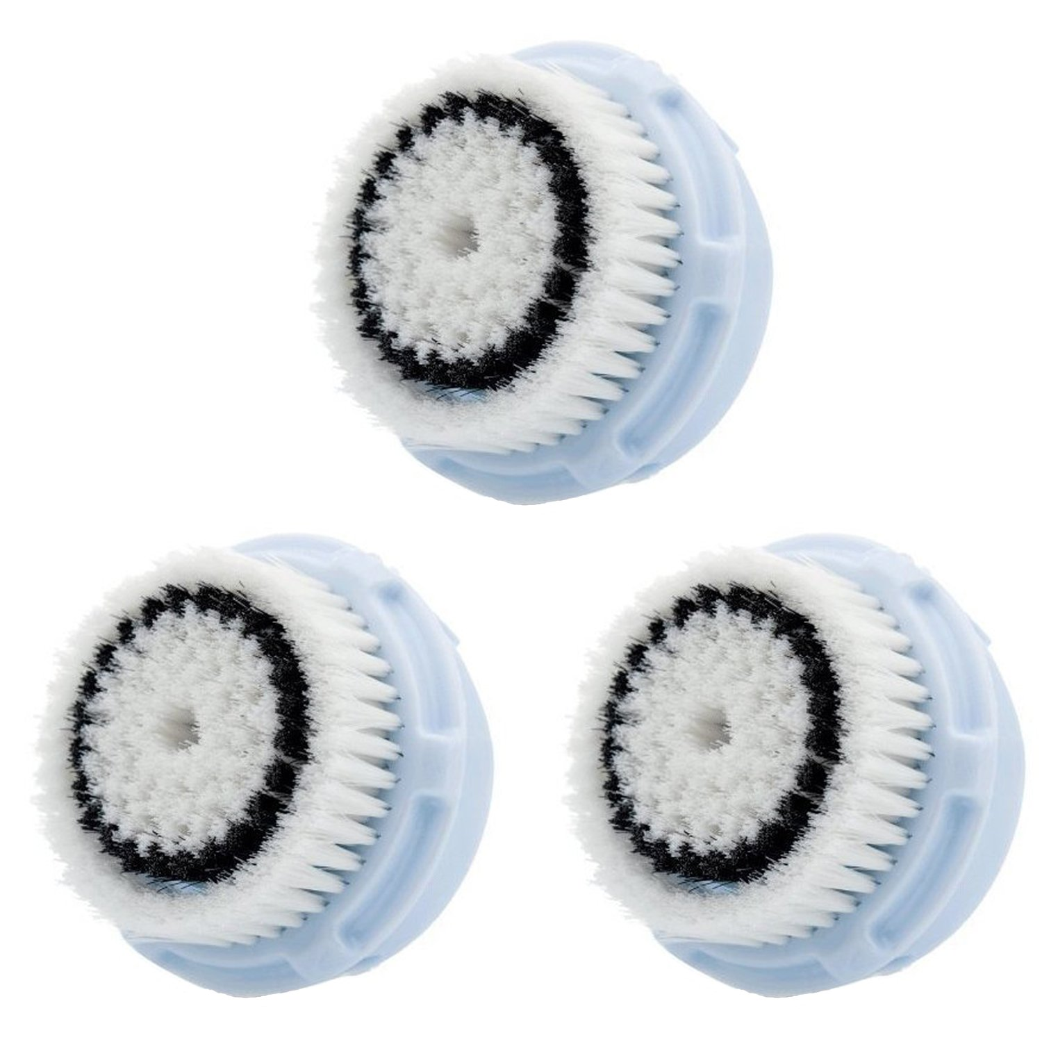 LSQtronics Delicate Facial Brush Heads for Clarisonic. Face Cleansing Brush Heads for Daily Skin Care. Compatible with Clarisonic MIA, MIA 2, ARIA, PRO and PLUS Cleansing Systems. (3-Pack Delicate Brush Head)