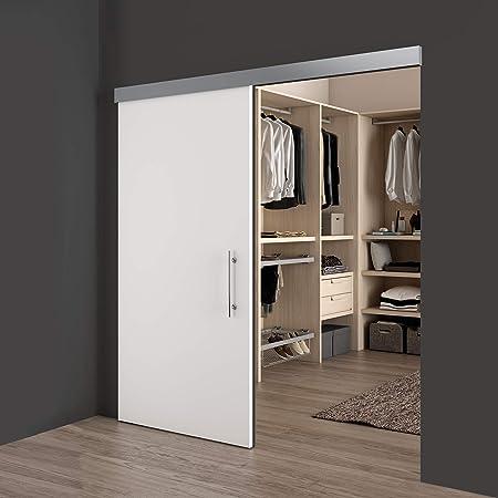 Emuca - Sistema para puertas correderas colgadas, con cierre suave, 80 kg, aluminio anodizado.: Amazon.es: Hogar
