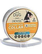 Jane Choi Anti Flea Collar for Dog, 2 Set Waterproof Anti Flea, Lice & Tick Dog Collar, 25 inch 8 Months Effective Control Flea and Tick adjustable Collar for Small Medium Large Dogs