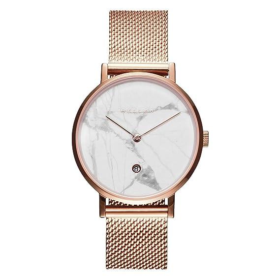 Meller Reloj Analógico para Unisex Adultos de Cuarzo con Correa en Acero Inoxidable W1RM-2ROSE: Amazon.es: Relojes