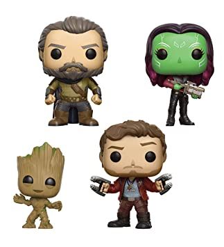04602f1a36f7 Figurines Pop ! Pack 4 Figurines Bobble-Head Marvel - Les Gardiens ...
