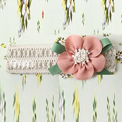fa73167ee90 Image Unavailable. Image not available for. Color  Kids Baby Girl Toddler  Lace Flower Hair Band Accessories Headwear Cute Headband