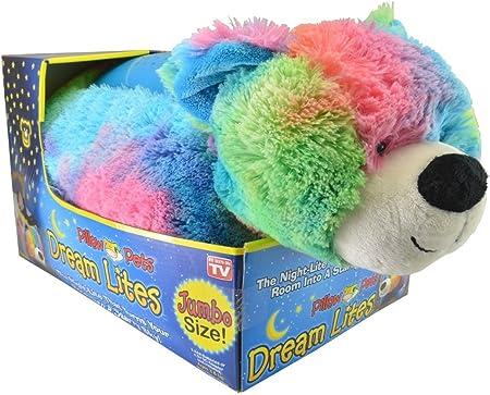 Pillow Pet Dream Lites Jumbo Rainbow Peaceful Bear Amazon Co Uk Kitchen Home