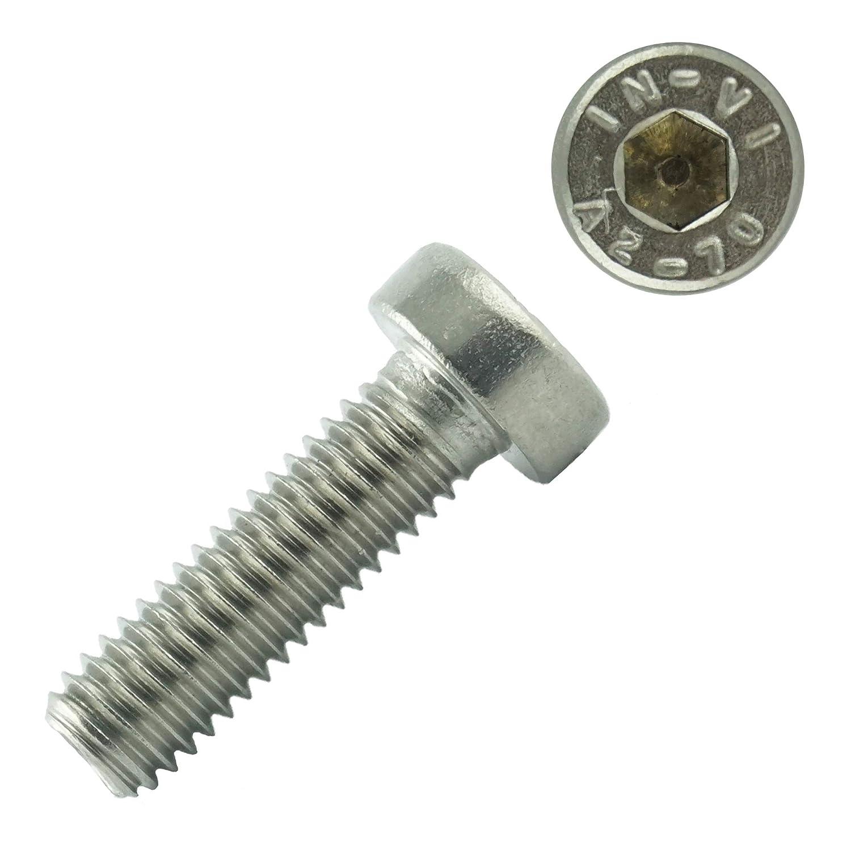 Zylinderschrauben mit Innensechskant M5 x 12 mm Eisenwaren2000 DIN 7984 Gewindeschrauben rostfrei 10 St/ück Edelstahl A2 V2A - Zylinderkopf Schrauben ISO 14580