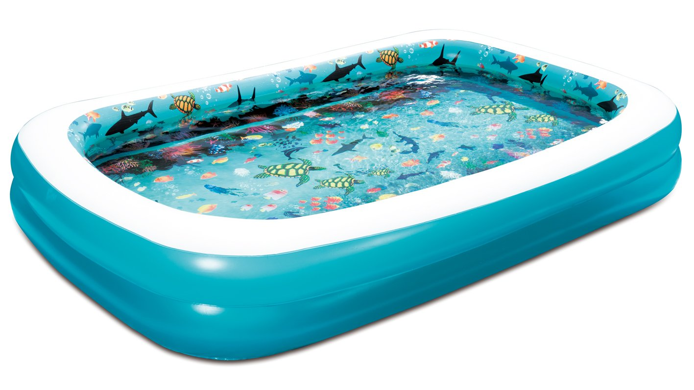 Amazon Summer Waves 103x69x18 3D Rectangular Family Pool With 1 Pair Of Goggles Garden Outdoor
