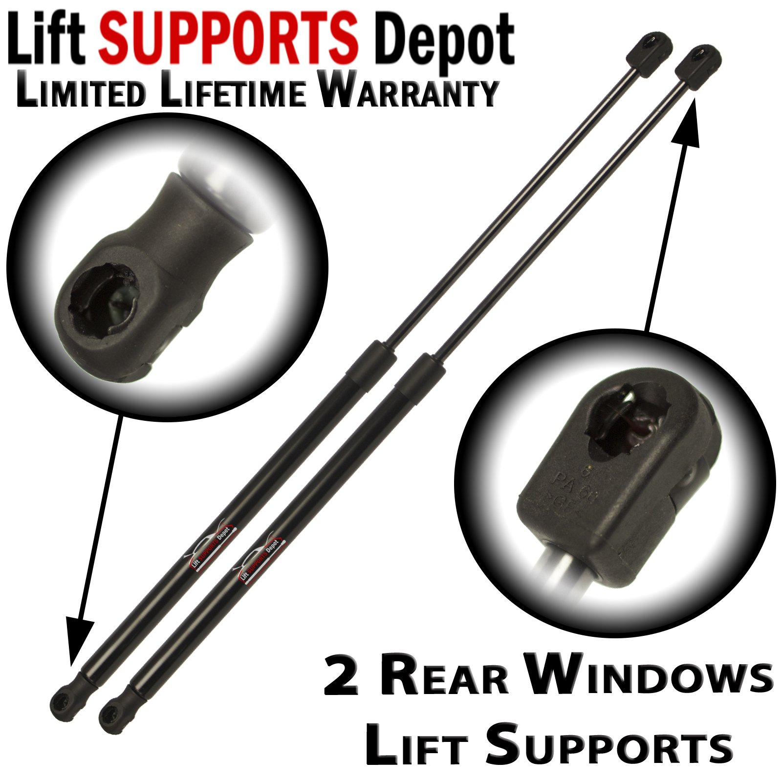 2pcs Liftgate Trunk Struts Lift Supports Shocks W//O Power Gate for Honda Pilot 2009 To 2012 6663,74820SZAA11