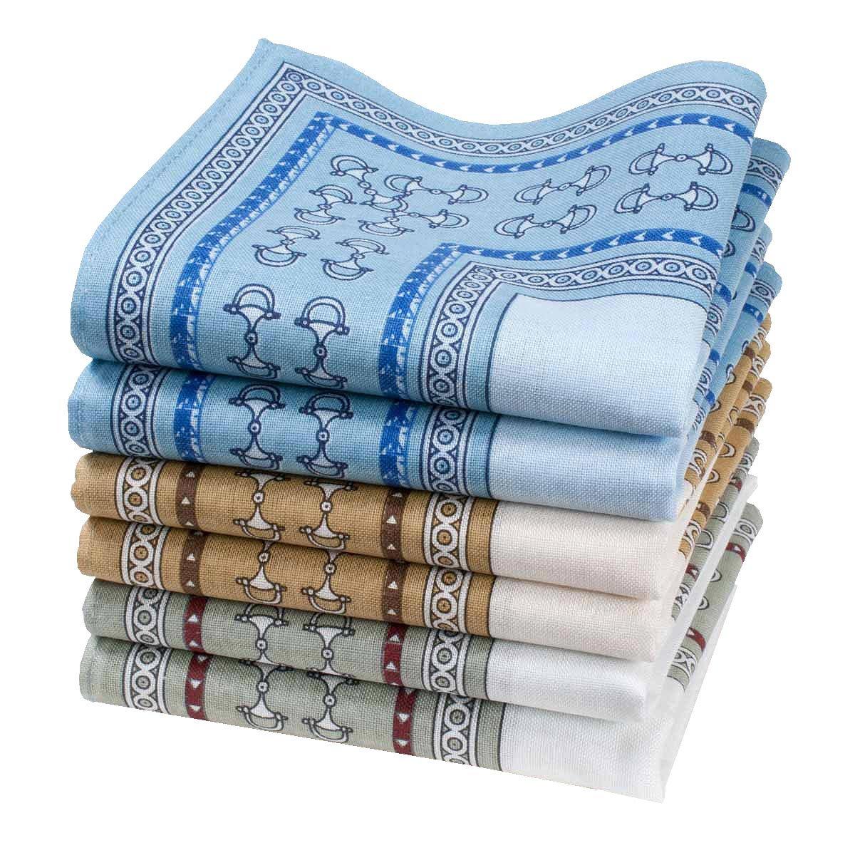 """Chachapoya"" men's handkerchiefs - 14"" square - 6 units in a bag."