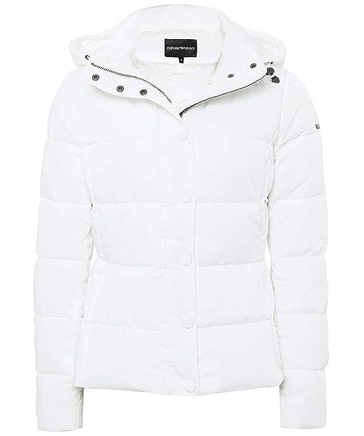 sale retailer e515d 7e7ef ARMANI JEANS Armani Da Donna Piumino Corto IT 42 Bianco ...