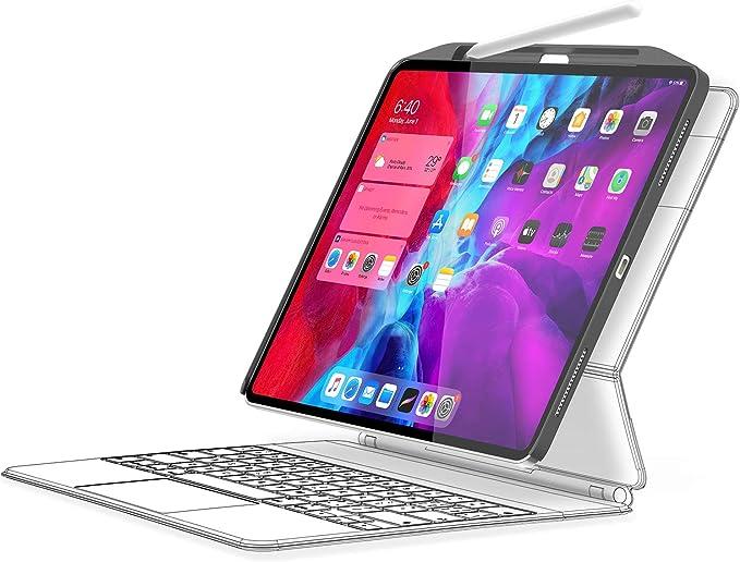 SwitchEasy Funda CoverBuddy para iPad Pro de 12,9 pulgadas 2020 (4ª generación) y 2018, compatible con teclado mágico/inteligente, con soporte para ...