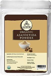Naturevibe Botanicals Organic Asafetida Powder 100gm (Hing, Asafoetida Ground) 3.53oz   Non-GMO and Gluten Free   Indian Seasoning   Adds Aroma and Flavor…