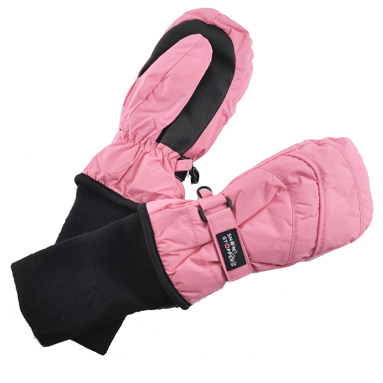 SnowStoppers Kid's Waterproof Stay On Winter Nylon Mittens Small / 1-3 Years Pink