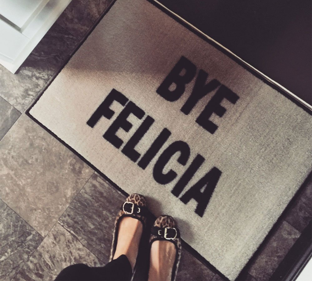 FloorMatShop Bye Felicia Welcome Doormat - 2 X 3 (Beige) by FloorMatShop