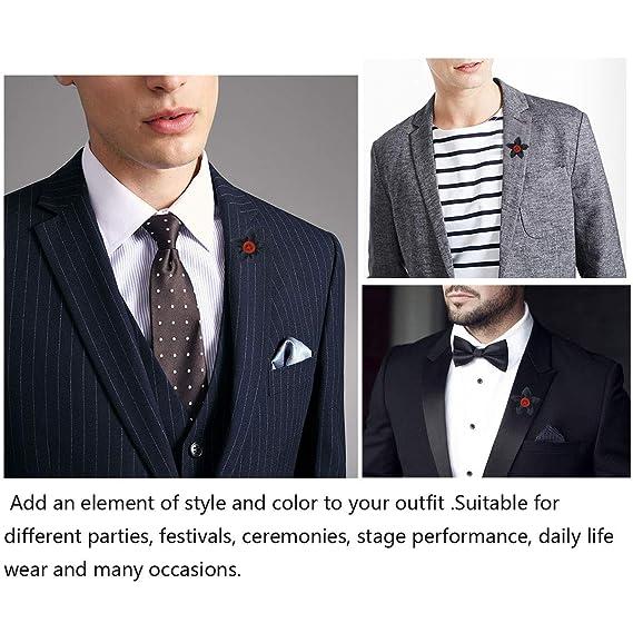 Amazon.com: SUNNY Hogar clásico Hombres Traje de botón de ...