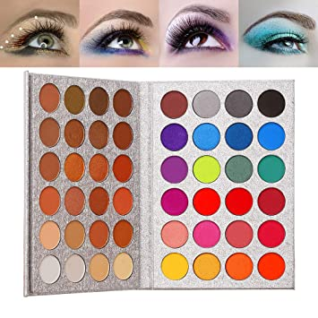 Beauty Glazed 48 Colors Eyeshadow Palette shine & matte Makeup Eye shadow Glitter Pigmented Eyeshadow Waterproof