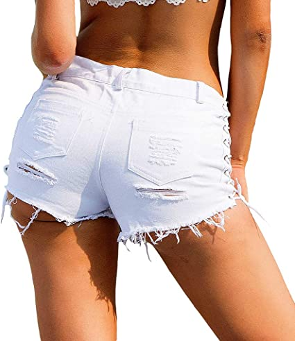 30 in environ 76.20 cm taille 15 ans neuf Blue Denim Fitted Shorts HOT Pants Filles ado femme