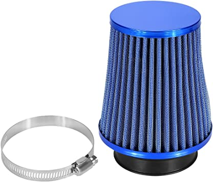 "BLUE 6 Inches 6/"" 152mm Inlet Cold Air Intake Cone Long TRUCK FILTER For Cadillac"