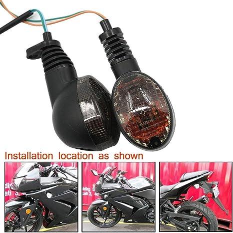 Motoparty For KAWASAKI EX250R NINJA 250R KLX250S KLX250SF VN650 Vulcan S Front/Rear Turn Signal Indicator Light Blinker Lamp Motorcycle,Smoke Shell