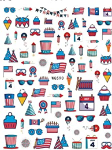 4th of July Patriotic Decorations, Red White and Blue Party Hanging Decor Set including Paper Fans, Balloons, American Flags and USA Banner for July 4th, Independence Day, Memorial Day, Veterans Day, Patriotic Party