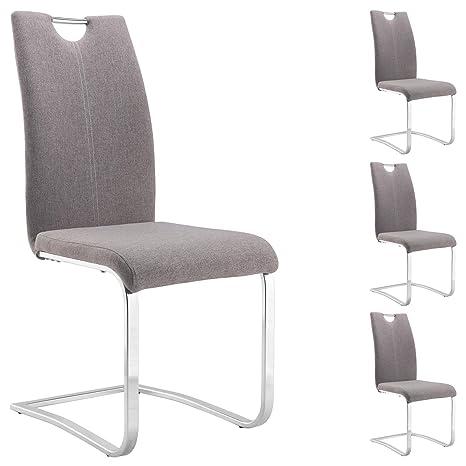 SABASet 4 mit Stühlen IDIMEX Esszimmerstuhl Schwingstuhl v08nwmN