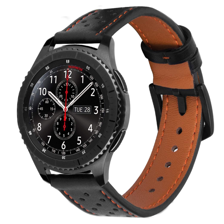 iBazal 22mm Correas Cuero Piel Pulseras Bandas Compatible con Samsung Galaxy Watch 46mm,Gear S3 Frontier Classic,Huawei GT/2 Classic/Honor ...