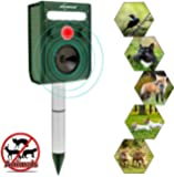 Ultrasonic Animal Repeller, Solar Ultrasonic Animal Scarer Support Cable Charging,Waterproof Wild Animal Expeller,Very…
