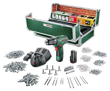 Bosch PSR 10,8 LI-2 - Taladro atornillador con 2 baterías