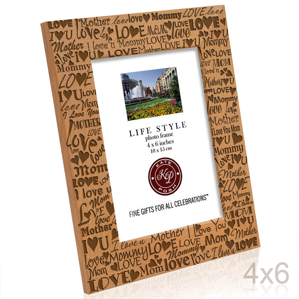 Amazon.com - Kate Posh - I Love You Mom, Mother, Mommy Picture Frame ...