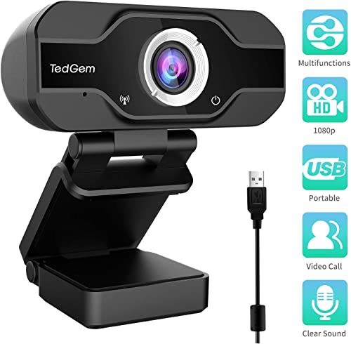 TedGem PC Full HD Webcam