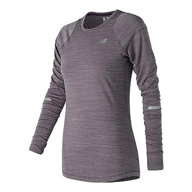 New Balance Seasonless Womens LS Camiseta Para Correr - SS18: Amazon.es: Deportes y aire libre