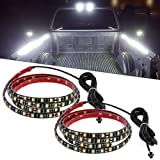 Truck Bed Lights, YITAMOTOR 2PCS 60in Waterproof White Tailgate Light Bar Strips with On-off Switch for RV SUV Jeep Pickup Truck Cargo