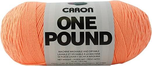 Medium Gauge 100/% Acrylic Caron One Pound Solids Yarn - Aqua- 4 16 Oz